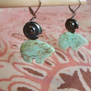 Seashell Earrings/ Bear Earrings/ Nature/ Ocean